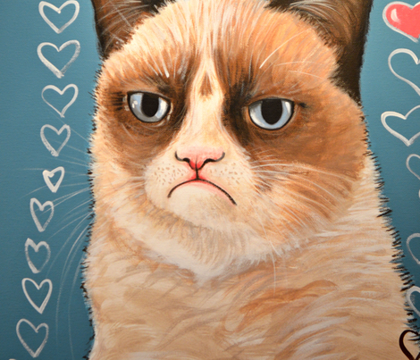 Grumpy Cat fabric by amykayg on Spoonflower - custom fabric