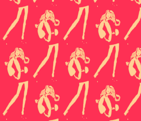 RED Fashionista fabric by bettinablue_designs on Spoonflower - custom fabric