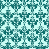 Super Mario &amp; Legend of Zelda Damask - Blue