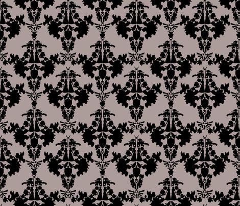 Super Mario & Legend of Link Damask - Faux Flocked Velvet fabric by babygeek on Spoonflower - custom fabric
