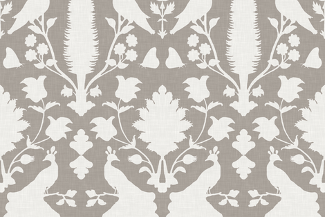 Avignon in Cashmere Gray fabric by sparrowsong on Spoonflower - custom fabric