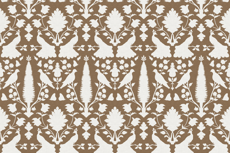 Avignon in Bark fabric by sparrowsong on Spoonflower - custom fabric