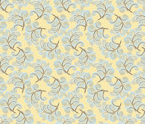 fern plumes fabric by glimmericks on Spoonflower - custom fabric