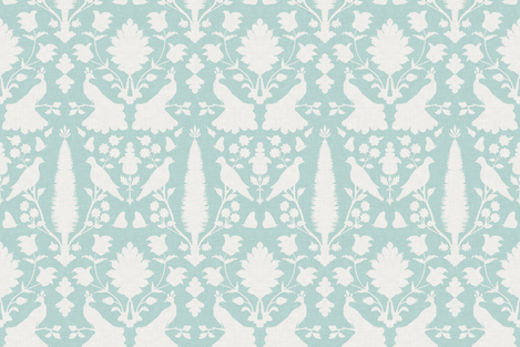 Avignon in Aquamarine fabric by sparrowsong on Spoonflower - custom fabric