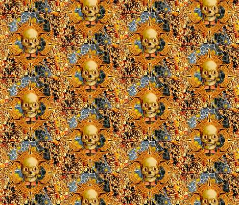 The Enthusiastic Dead Guy fabric by whimzwhirled on Spoonflower - custom fabric