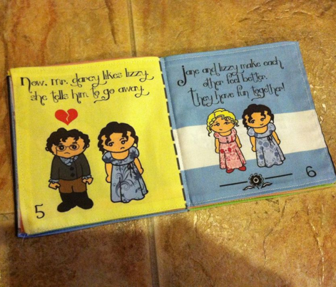 Pride and Prejudice cloth quiet fabric book for little ones