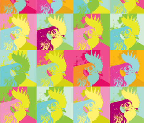 Rooster Monroe fabric by saartje on Spoonflower - custom fabric
