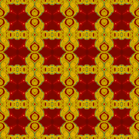 Gold and Maroon Paisley Lattice fabric by elramsay on Spoonflower - custom fabric