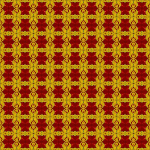 Gold and Maroon Paisley Lattice