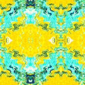 Golden Aqua Abstract
