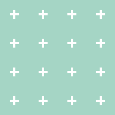 mint cross // mint plus fabric by pencilmein on Spoonflower - custom fabric