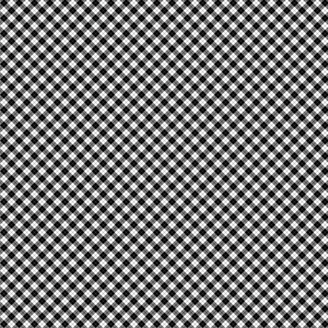 Small Scale Black and White Argyle fabric by shadow-people on Spoonflower - custom fabric