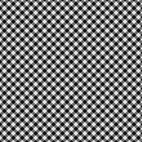 Small Scale Black and White Argyle