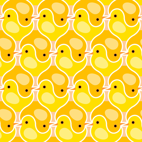 chick 2 fabric by sef on Spoonflower - custom fabric