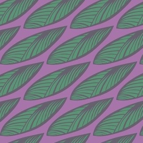 Leaves - Purple & Green