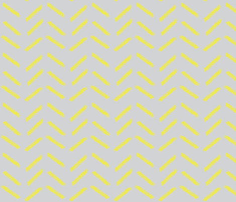 Crayon chevrons in grey & yellow fabric by mezzime on Spoonflower - custom fabric