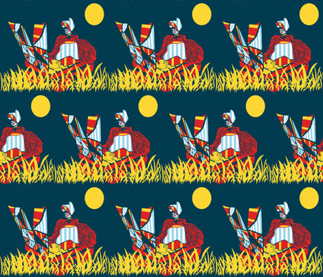 Sailing on a Sea of Grass fabric by anniedeb on Spoonflower - custom fabric