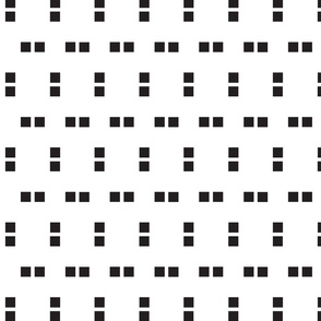 Black and White Squares Print