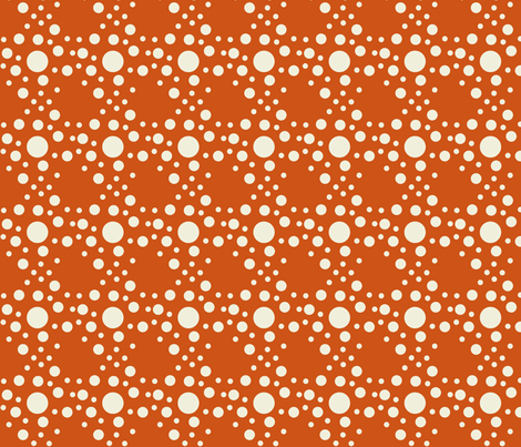 Speckle dots in orange fabric by mezzime on Spoonflower - custom fabric
