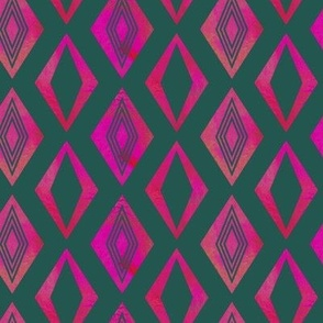 Diamond pattern (Pink&Green)