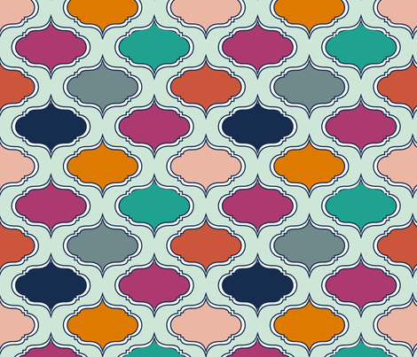 BoldJewelsWallpaper fabric by mrshervi on Spoonflower - custom fabric