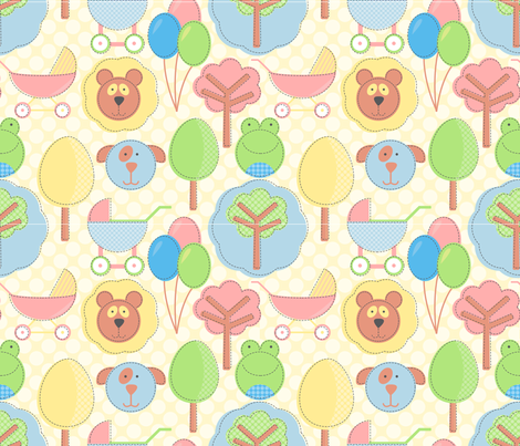 cutsey_cutsey fabric by jlwillustration on Spoonflower - custom fabric