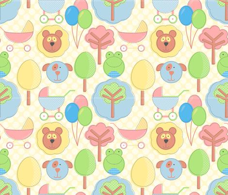 cutsey_cutsey fabric by jlwillustration on Spoonflower - custom fabric