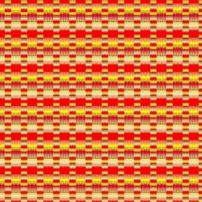 Orange and yellow dots and stripes