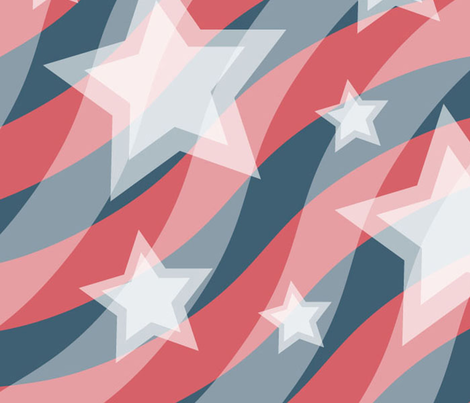 Large Stars and Stripes fabric by scifiwritir on Spoonflower - custom fabric