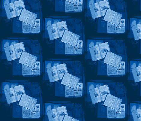 Bookbox reduced colour: blues fabric by callioperosehandcarjones on Spoonflower - custom fabric