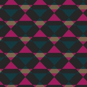 Retro Triangles - Blue & Pink