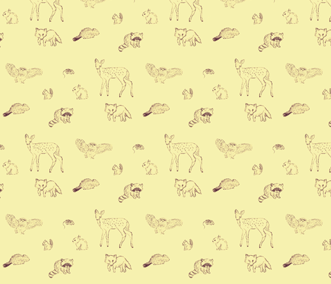 baby animals fabric by timoroustea on Spoonflower - custom fabric