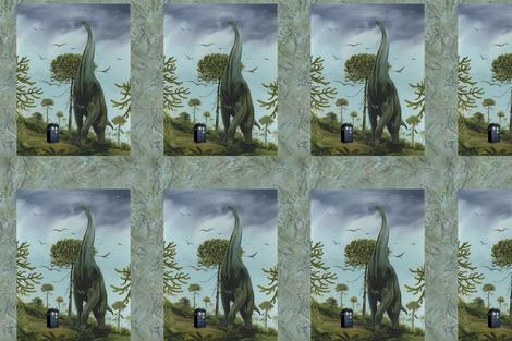 Sauroposeidon finds a phone booth bag