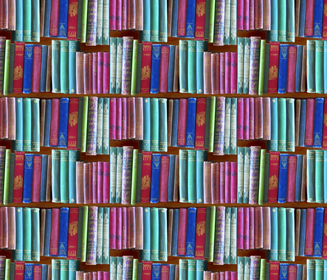bookcase small full colour fabric by callioperosehandcarjones on Spoonflower - custom fabric