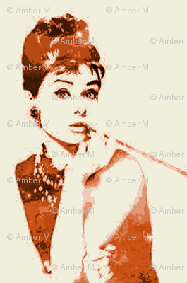 audrey hepburn in burnt orange