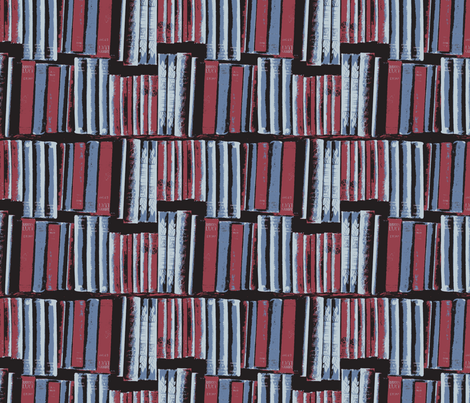 bookcase small grey and wine fabric by callioperosehandcarjones on Spoonflower - custom fabric