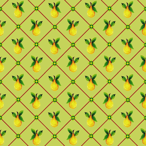 Wasabi_Pear_Print fabric by kelly_a on Spoonflower - custom fabric