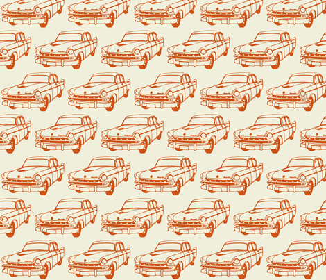 Classic car fabric by mezzime on Spoonflower - custom fabric