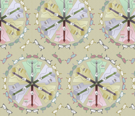 geek dress code mandala subtle fabric by glimmericks on Spoonflower - custom fabric