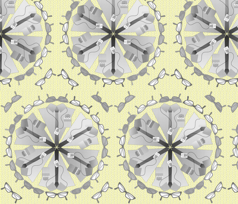 gdc mandala lemon fabric by glimmericks on Spoonflower - custom fabric
