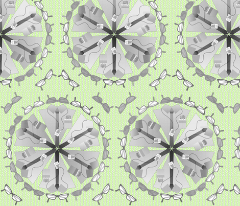 gdc mandala lime fabric by glimmericks on Spoonflower - custom fabric