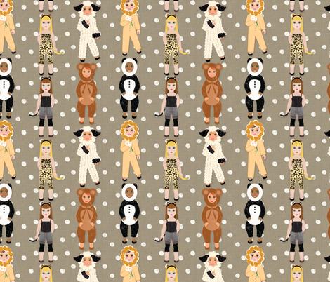 babyanimaldressup fabric by ashleystateresa on Spoonflower - custom fabric