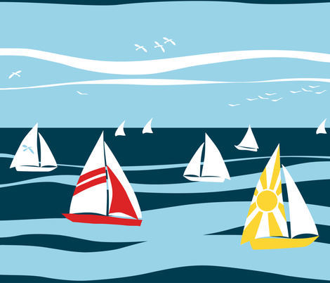 nautical fabric by johanna_design on Spoonflower - custom fabric