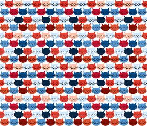 chat_c_est_toi_le_chat_bleu_r_M fabric by nadja_petremand on Spoonflower - custom fabric