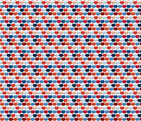 chat_c_est_toi_le_chat_bleu_r_S fabric by nadja_petremand on Spoonflower - custom fabric