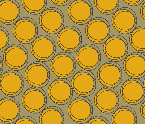 Yellow Polka fabric by georgianaparaschiv on Spoonflower - custom fabric
