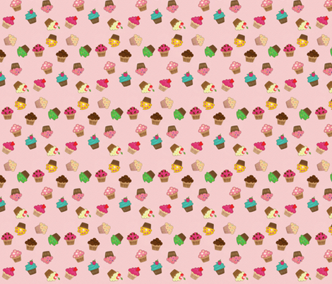 sparkly cupcakes fabric by krs_expressions on Spoonflower - custom fabric
