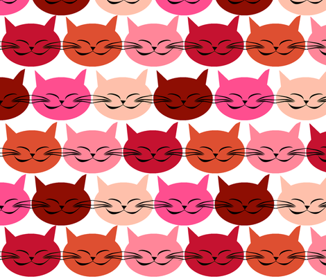 chat_c_est_toi_le_chat_rouge fabric by nadja_petremand on Spoonflower - custom fabric