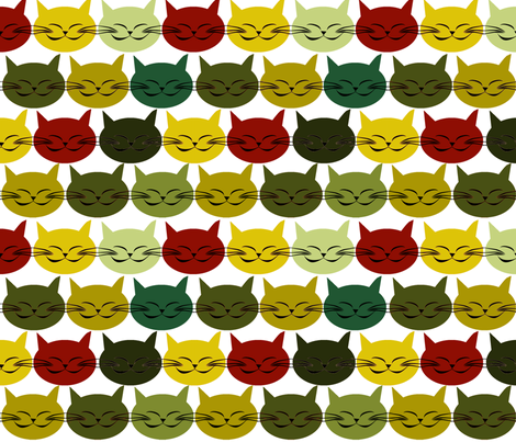 chat_c_est_toi_le_chat_vert_L fabric by nadja_petremand on Spoonflower - custom fabric