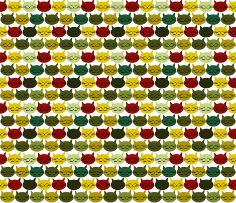 chat_c_est_toi_le_chat_vert_M fabric by nadja_petremand on Spoonflower - custom fabric